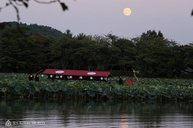 大覚寺夕方の舟